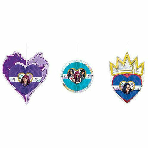 Descendants 2 Honeycomb Decorations 3ct