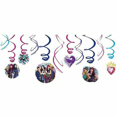 Descendants 2 Swirl Decorations 12ct
