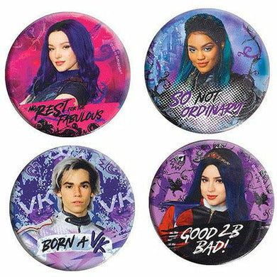 Descendants 3 Buttons 4ct