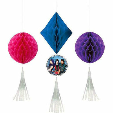 Descendants 3 Honeycomb Decorations 3ct