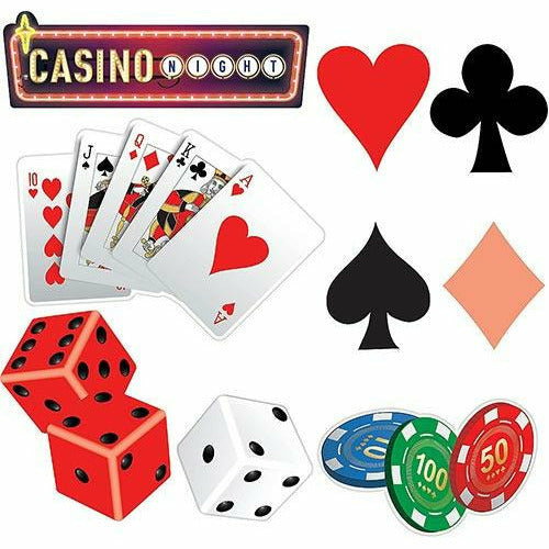 Roll the Dice Casino Cutouts 30ct