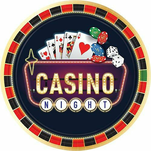 Roll the Dice Casino Dinner Plates 8ct