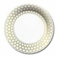 Prismatic Gold Dessert plates 8ct