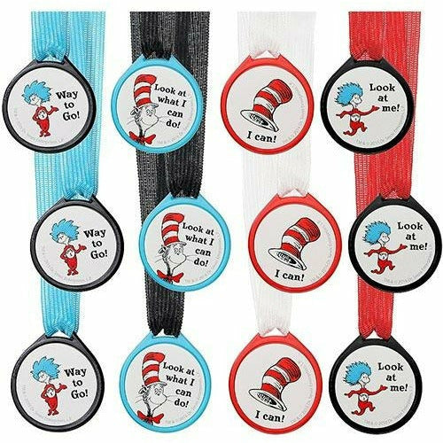 Cat in the Hat Award Medals 12ct - Dr. Seuss
