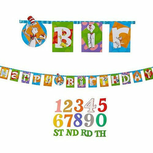 Dr. Seuss Birthday Banner Kit