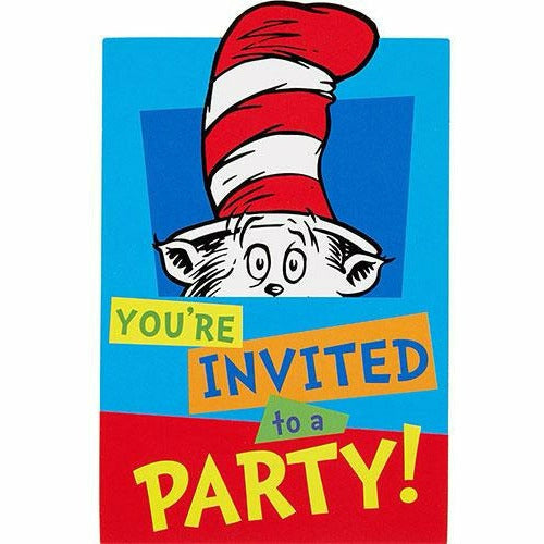 Dr. Seuss Invitations 8ct