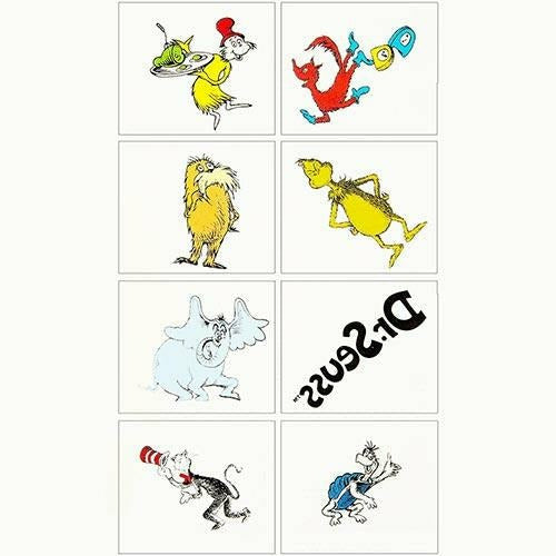 Dr. Seuss Tattoos 1 Sheet