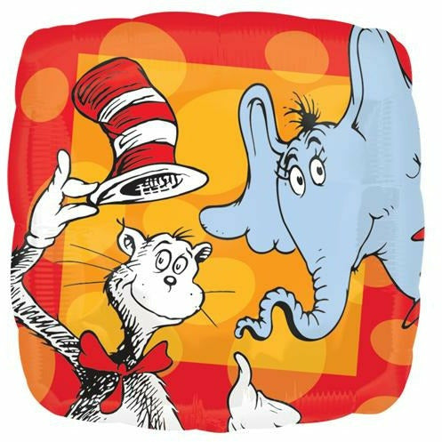 "081 Dr. Seuss 17"" Mylar Balloon"