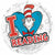 "091 Dr. Seuss I Love Reading 17"" Mylar Balloon"
