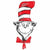 "101 Dr. Seuss Cat in the Hat Jumbo 42"" Mylar Balloon"