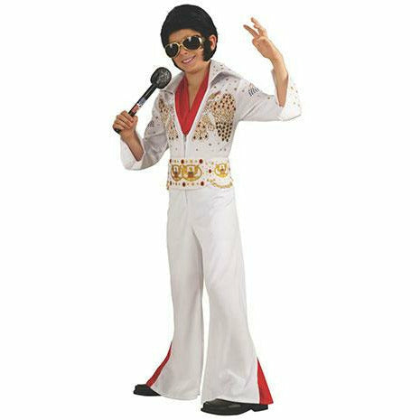 Boys Elvis Presley Eagle Jumpsuit Deluxe Costume
