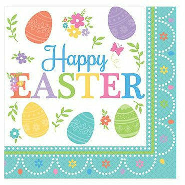 Egg-citing Easter Beverage Napkins 16ct