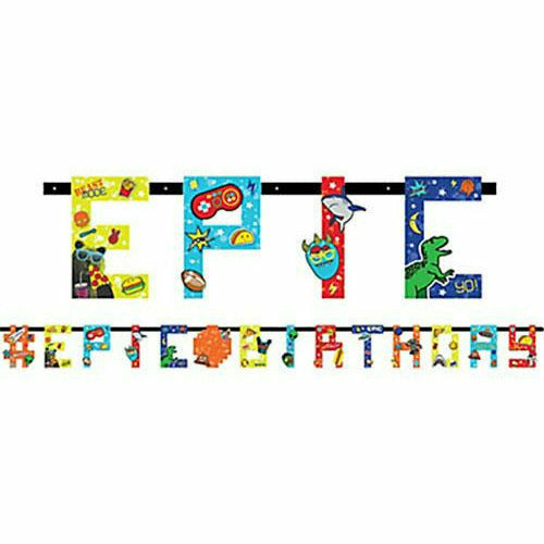 R1 Epic Party Birthday Banner Kit
