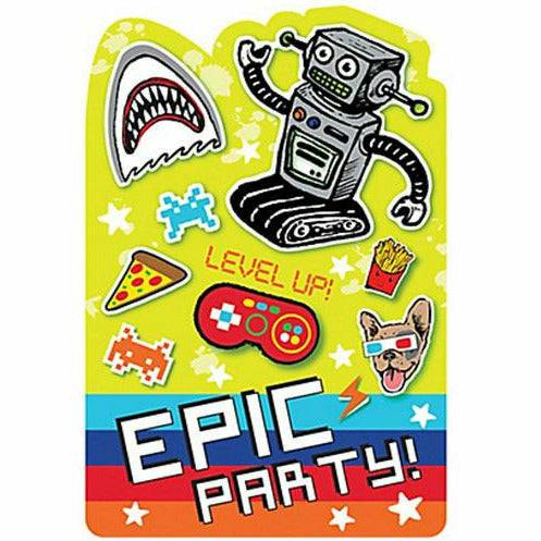 Epic Party Invitations 8ct