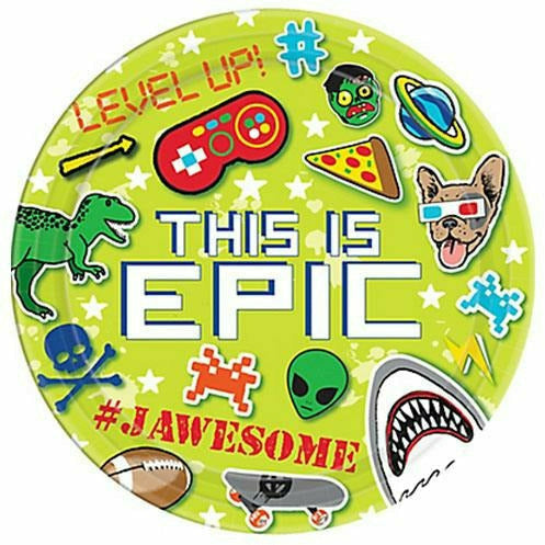Epic Party Lunch Plates 8ct