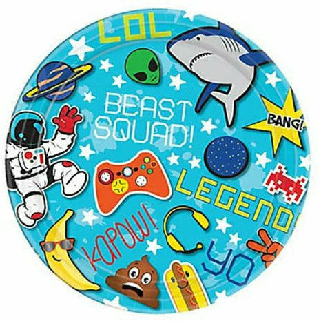 R1 Epic Party Dessert Plates 8ct