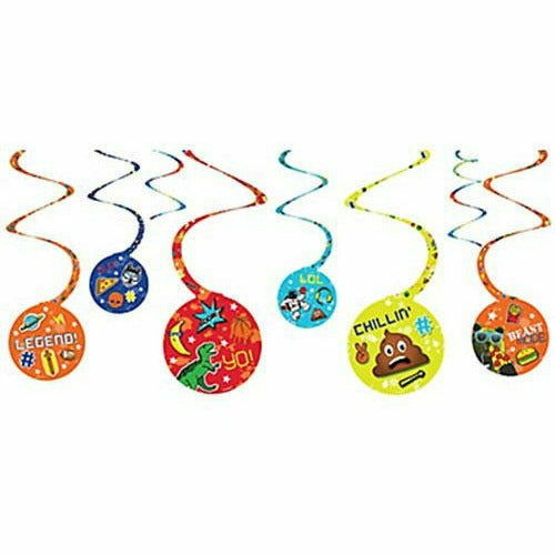 Epic Party Swirl Decorations 8ct