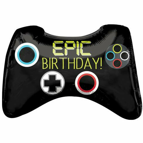 "254 Game Controller Epic Party Jumbo 28"" Mylar Balloon"