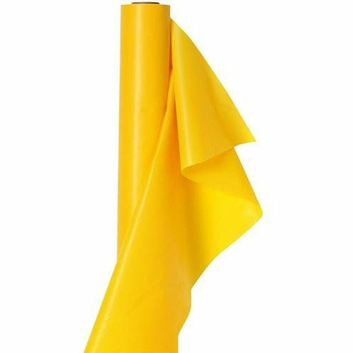 Extra-Long Sunshine Yellow Plastic Table Cover Roll