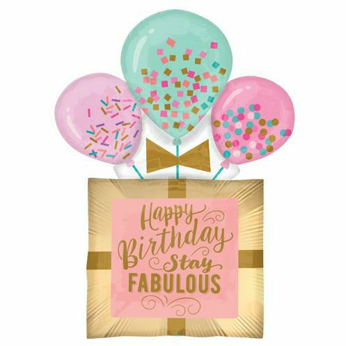 "336 Happy Birthday Stay Fabulous Jumbo 32"" Mylar Balloon"