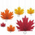 Fall Leaf Paper Fan Decorations 6ct