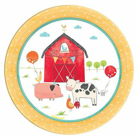 Friendly Farm Dessert Plates 18ct