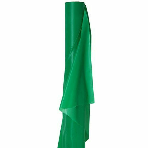 Extra-Long Festive Green Plastic Table Cover Roll