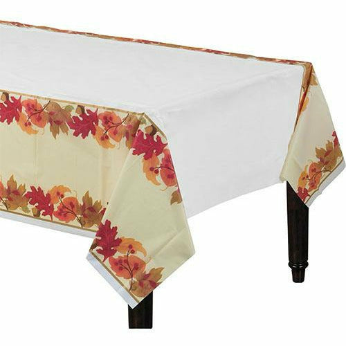Festive Fall Plastic Table Cover