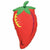 "589 Fiesta Chili Pepper Jumbo 32"" Mylar Balloon"