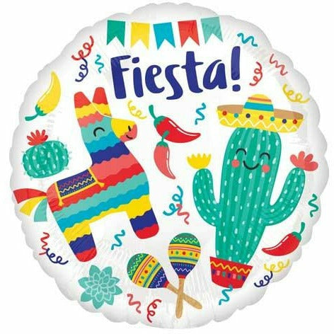 "379 Fiesta Party 18"" Mylar Balloon"
