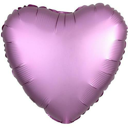"029 Flamingo HX Luxe Heart 19"" Mylar Balloon"