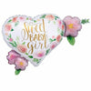 "514 Heart Sweet Baby Girl Jumbo 27"" Mylar Balloon"