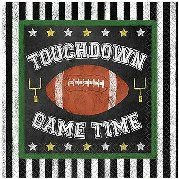 Football Game Time Beverage Napkins 36ct