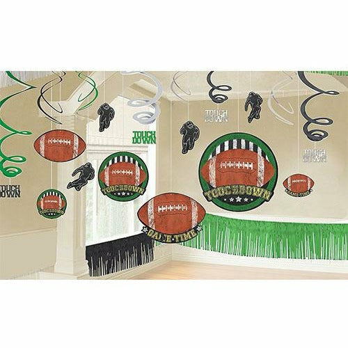 Football Game Time Room Decorating Kit 22pc