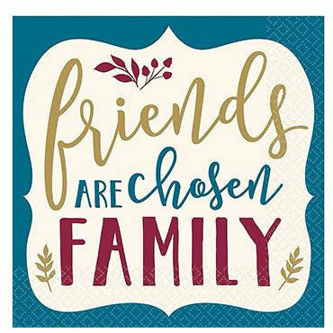 Friends Are Chosen Family Beverage Napkins 16ct