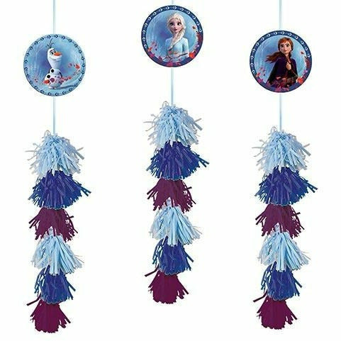 Frozen 2 Tassel Decorations 3ct
