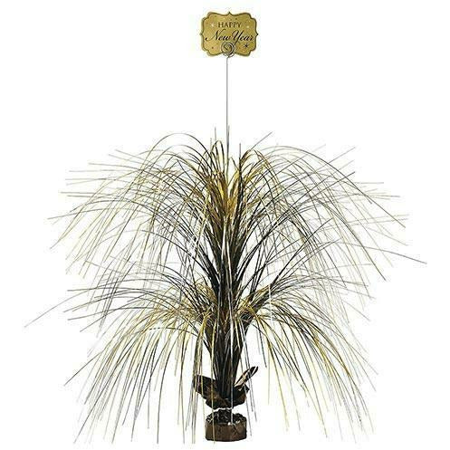 Giant Black, Gold & Silver New Year's Spray Centerpiece