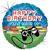 "221 Game Controller Happy Birthday 18"" Mylar Balloon"