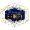 "425 30"" Geometric Happy Birthday Jumbo Foil"