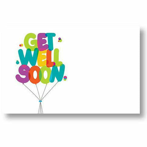 Get Well Soon Balloons Card