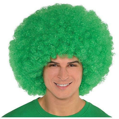 Giant Green Afro Wig