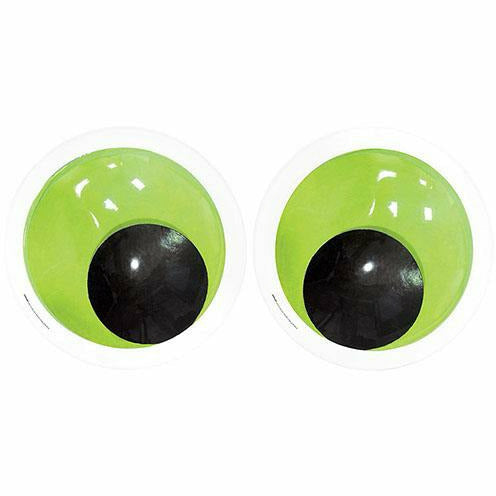 Giant Green Googly Eyes Photo Booth Props 2ct