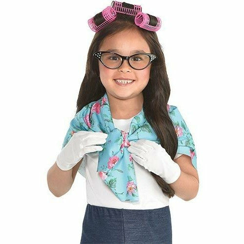 Girls 100th Day of School Grandma Costume Accessory Kit