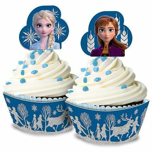 Glitter Frozen 2 Cupcake Kit for 24
