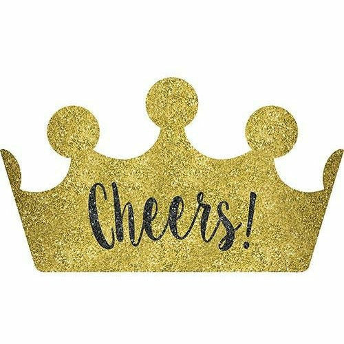 Glitter Gold Cheers New Year's Crown Headband