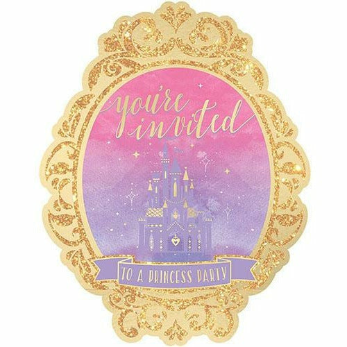 Glitter Disney Once Upon a Time Invitations 8ct