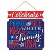 Q3 Glitter Patriotic Proud & True Stacked Sign