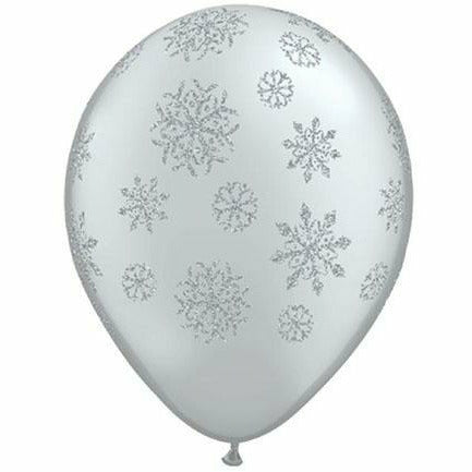 "Glitter Snowflake 11"" Latex Balloon"