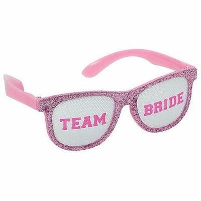 Glitter Team Bride Glasses 6ct