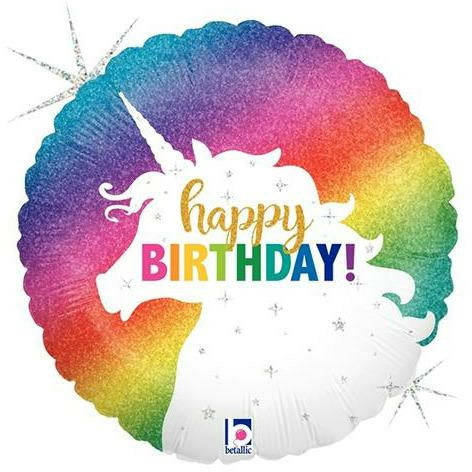 "278 Unicorn Happy Birthday 18"" Mylar Balloon"